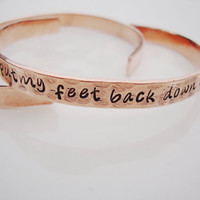 Never want to get my feet back down on the ground depeche mode hammered copper cuff