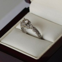 Have You Seen the Ring?: Diamond/Platinum Engagement Ring (w/ Gold Heart)