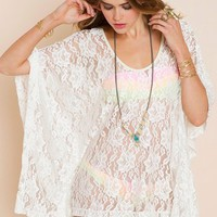Lace Poncho in  Clothes Swimwear