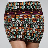 Abstract Print Mini Skirt