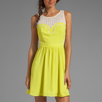 Greylin Avery Lace Cutout Dress in Citron from REVOLVEclothing.com