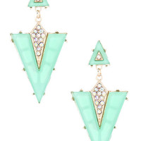 Mint Valencia Earrings – Modeets.com