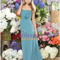 2012 Beautiful Chiffon Ruched Bridesmaid Dress