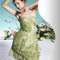 Sweetheart Mini Sheath / Column Organza Cocktail Dresses / Wedding Party [10108112] - US$121.99 : DressKindom