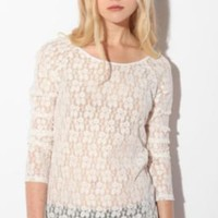 Pins and Needles Long-Sleeved Lace TopBack in Stock!