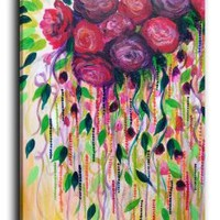 Amazon.com: DiaNoche Designs FREE SHIPPING Canvas Wall Art Home Decor Ideas - Roses Are Rad 1: Arts, Crafts & Sewing