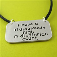 Midichlorian Count Necklace - Spiffing Jewelry