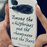 The Great Gatsby iPhone Case  Quote iPhone Case by NeverMorePrints