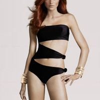 Sexy Slim Black One-piece Bathing Swimsuit