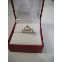Have You Seen the Ring?: Pear Shaped 1.14ct Center Diamond 2 pc Bridal Set