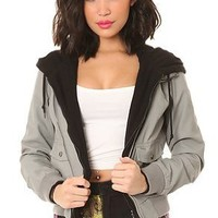 Obey Women's Jealous Lover Jacket Extra Small Black