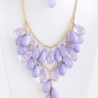 Dew Drops Necklace - Lilac -  $22.00 | Daily Chic Accessories | International Shipping
