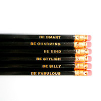 Gentle Reminders Pencils- Black, Set of 6