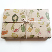 vegetables gift wrap set (100% recycled)