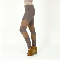 Arrowhead Leggings Neutral Grey Chevrons