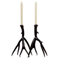 antler candle sticks