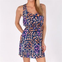 Soprano Juniors Sleeveless Printed Dress with Racerback at Von Maur