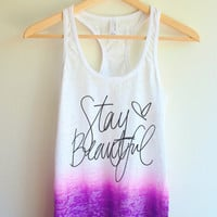 Stay Beautiful Tie Dye Tank Top