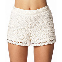 Crocheted Daisy Shorts | FOREVER 21 - 2061821950
