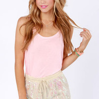 Stardust Cream Sequin Shorts