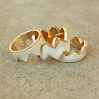 Still Valley Zig Zag Ring [3407] - $16.00 : Vintage Inspired Clothing & Affordable Summer Frocks, deloom | Modern. Vintage. Crafted.