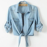 Restore ancient ways small shawl denim shirt