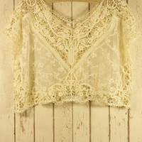 Lace Crochet Smock - Retro, Indie and Unique Fashion