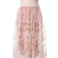 Romance Full Lace Maxi Skirt in White - Skirt - Bottoms - Retro, Indie and Unique Fashion