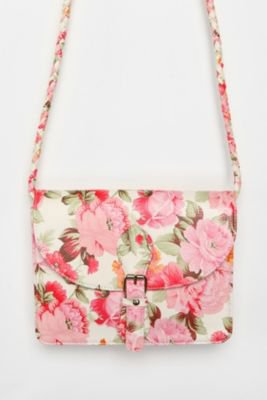 Kimchi Blue Floral Front-Pocket Crossbody Bag