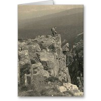 Giant Mountains - Vintage Hiking 1937 Greeting Card from Zazzle.com