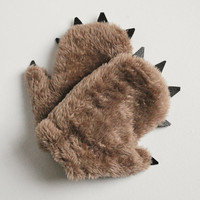 Baby Bear Mittens Fuzzy Mocha with Dark Claws by babycricket