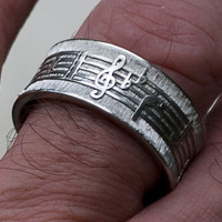 Music Notes Ring Unisex and Completely Customizable by pmgart