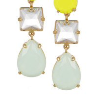J.Crew | Island gold-tone crystal earrings | NET-A-PORTER.COM