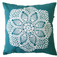 Granny Pillow cover Hand screenprinted Cushion by olula on Etsy