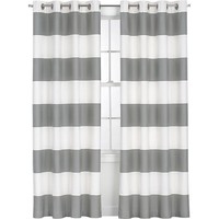 Alston Ivory/Grey Curtain Panels