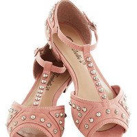 Tell Me About It, Studded Flat in Blush | Mod Retro Vintage Flats | ModCloth.com