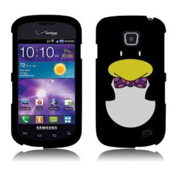 Amazon.com: Snap On Hard Crystal Protector Cover Case For Samsung Illusion i110 - Penguin: Cell Phones & Accessories