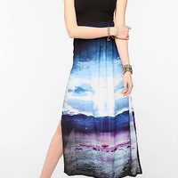 Motel Photo Print Maxi Dress