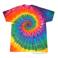 Made to Order/ Tie Dye Shirt/ Classic Rainbow Spiral