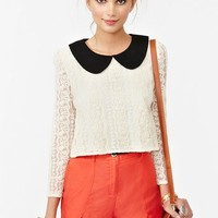 Alexa Lace Top in  Clothes Tops at Nasty Gal