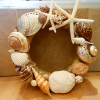 Seashell Wreath by LiveCoastal on Etsy
