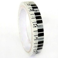 Decorative Packaging Tape - Black & White Piano Keys