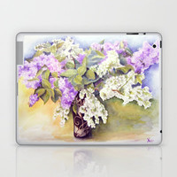 Lilacs bouquet Laptop & iPad Skin by Vargamari