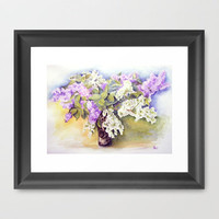 Lilacs bouquet Framed Art Print by Vargamari