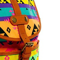 ASOS Backpack in Fluro Aztec at asos.com