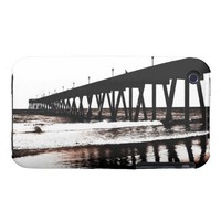 Fishing Pier in (mostly) Black and White iPhone 3 Case-Mate Cases from Zazzle.com