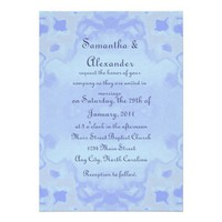 Pale Blue Abstract Wedding Invites from Zazzle.com