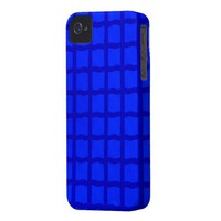 Bright Blue Tiles Case-Mate iPhone 4 Cases from Zazzle.com