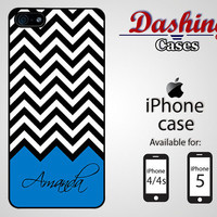 Personalized iPhone case for iPhone 4 & 4s and 5 - black chevron personalized with name - 009