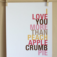 Peach Apple Crumb Pie Art Print | Luulla